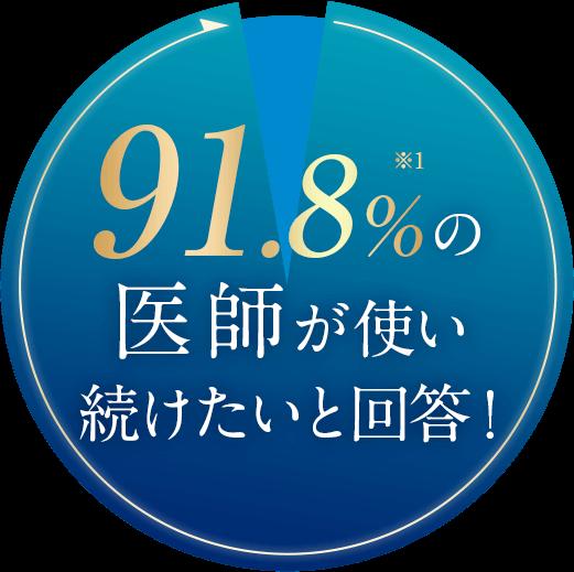 しろ彩セラミドリッチクリームを91.8%の意思が使い続けたいと回答!
